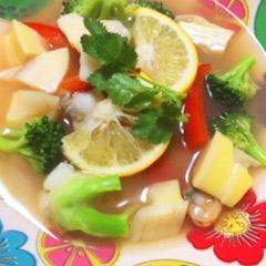 夏バテ解消あっさり夏野菜たっぷりスープ